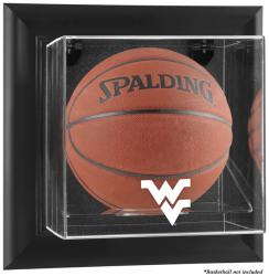 West Virginia Mountaineers Black Framed Wall-Mountable Basketball Display Case - Mounted Memories
