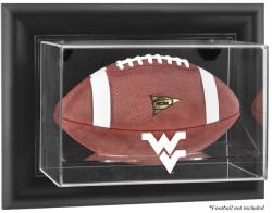 West Virginia Mountaineers Black Framed Wall-Mountable Football Display Case