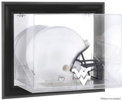 West Virginia Mountaineers Black Framed Wall-Mountable Helmet Display Case