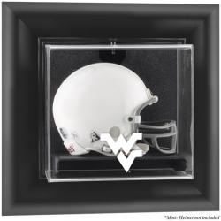 West Virginia Mountaineers Black Framed Wall-Mountable Mini Helmet Display Case
