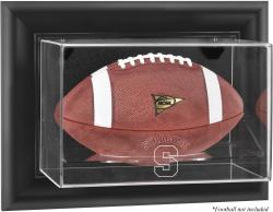 Syracuse Orange Black Framed Wall-Mountable Football Display Case - Mounted Memories
