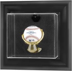 Black Framed Wall Mounted Baseball Display Case