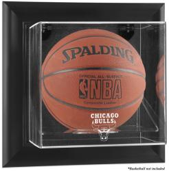 Chicago Bulls Black Framed Wall-Mounted Team Logo Basketball Display Case