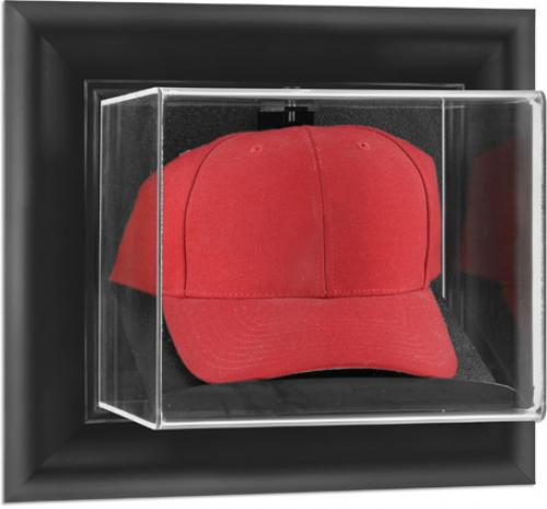 Black Framed Wall Mounted Cap Display Case - Mounted Memories
