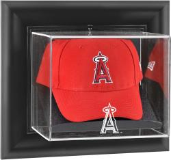 Los Angeles of Anaheim Black Framed Wall-Mounted Logo Cap Display Case
