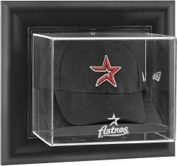 Houston Astros Black Framed Wall-Mounted Logo Cap Display Case - Mounted Memories