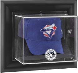 Toronto Blue Jays Black Framed Wall-Mounted Logo Cap Display Case