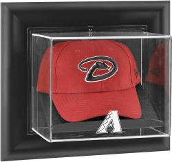 Arizona Diamondbacks Black Framed Wall-Mounted Logo Cap Display Case - Mounted Memories