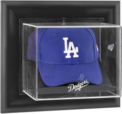 Los Angeles Dodgers Black Framed Wall-Mounted Logo Cap Display Case - Mounted Memories