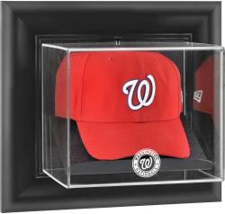 Washington Nationals Black Framed Wall-Mounted Logo Cap Display Case - Mounted Memories