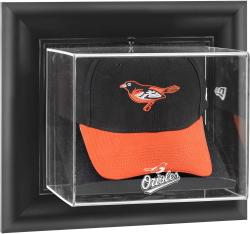 Baltimore Orioles Black Framed Wall-Mounted Logo Cap Display Case - Mounted Memories