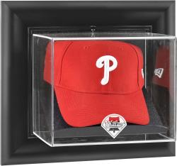 Philadelphia Phillies Black Framed Wall-Mounted Logo Cap Display Case - Mounted Memories