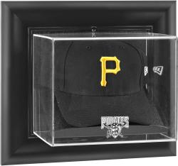 Pittsburgh Pirates Black Framed Wall-Mounted Logo Cap Display Case - Mounted Memories