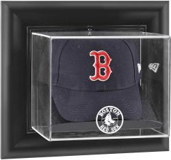 Boston Red Sox Black Framed Wall-Mounted Logo Cap Display Case - Mounted Memories