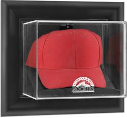 Colorado Rockies Black Framed Wall-Mounted Logo Cap Display Case