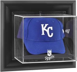 Kansas City Royals Black Framed Wall-Mounted Logo Cap Display Case