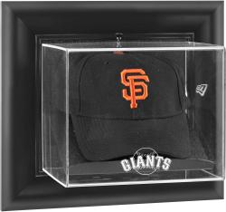 San Francisco Giants Black Framed Wall-Mounted Logo Cap Display Case - Mounted Memories