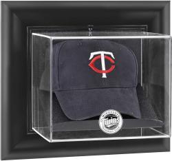 Minnesota Twins Black Framed Wall-Mounted Logo Cap Display Case
