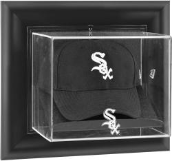 Chicago White Sox Black Framed Wall-Mounted Logo Cap Display Case