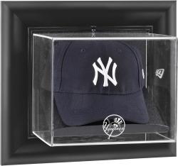 New York Yankees Black Framed Wall-Mounted Logo Cap Display Case