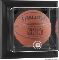 Los Angeles Clippers Black Framed Wall Mount Team Logo Basketball Display Case - Mounted Memories