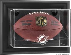 Miami Dolphins Black Framed Wall-Mountable Football Case - Mounted Memories