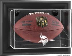 Minnesota Vikings Black Framed Wall-Mountable Football Case - Mounted Memories