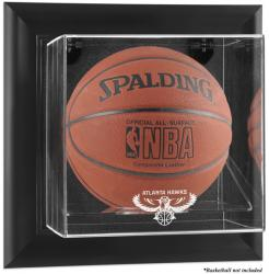 Atlanta Hawks Black Framed Wall-Mounted Team Logo Basketball Display Case - Mounted Memories