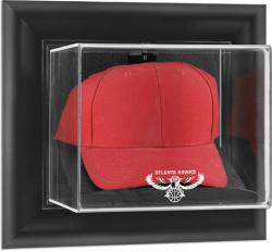 Atlanta Hawks Black Framed Wall-Mounted Cap Display Case