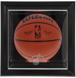 Miami Heat Black Framed Wall-Mounted Team Logo Basketball Display Case