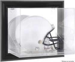Black Framed Wall-Mountable Helmet Display Case - Mounted Memories