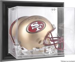 San Francisco 49ers Black Framed Wall-Mounted Helmet Display - Mounted Memories