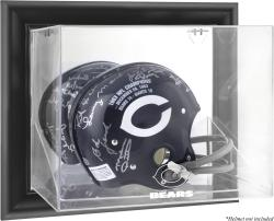 Chicago Bears Framed Wall Mounted Helmet Display - Black - Mounted Memories