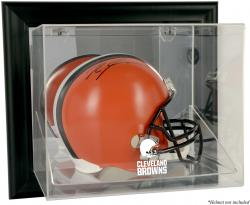 Cleveland Browns Framed Wall Mounted Helmet Display - Black - Mounted Memories