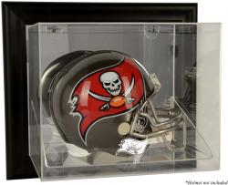 Tampa Bay Buccaneers Black Framed Wall-Mounted Helmet Display - Mounted Memories