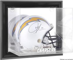 San Diego Chargers Black Framed Wall-Mounted Helmet Display - Mounted Memories