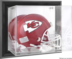 Kansas City Chiefs Black Framed Wall-Mounted Helmet Display