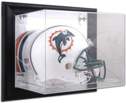 Miami Dolphins Black Framed Wall-Mounted Helmet Display - Mounted Memories