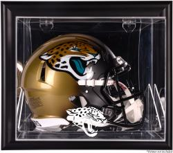 Jacksonville Jaguars Black Framed Wall-Mountable Helmet Case