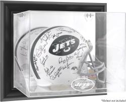 New York Jets Black Framed Wall-Mounted Helmet Display - Mounted Memories