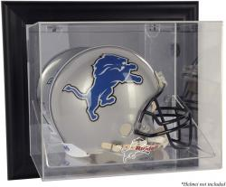Detroit Lions Black Framed Wall-Mounted Helmet Display - Mounted Memories