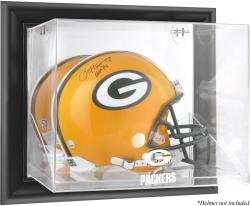 Green Bay Packers Black Framed Wall-Mounted Helmet Display - Mounted Memories