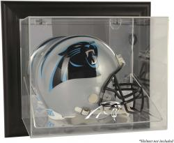 Carolina Panthers Framed Wall-Mounted Helmet Display - Black - Mounted Memories
