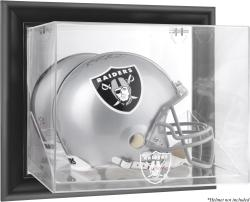 Oakland Raiders Black Framed Wall-Mounted Helmet Display - Mounted Memories