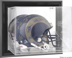 St. Louis Rams Black Framed Wall-Mounted Helmet Display - Mounted Memories