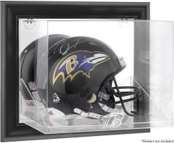 Baltimore Ravens Framed Wall-Mounted Helmet Display - Black - Mounted Memories