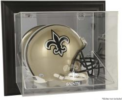 New Orleans Saints Black Framed Wall-Mounted Helmet Display - Mounted Memories