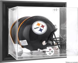 Pittsburgh Steelers Black Framed Wall-Mounted Helmet Display - Mounted Memories