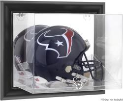 Houston Texans Black Framed Wall-Mounted Helmet Display Case - Mounted Memories