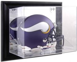 Minnesota Vikings Black Framed Wall-Mounted Helmet Display - Mounted Memories